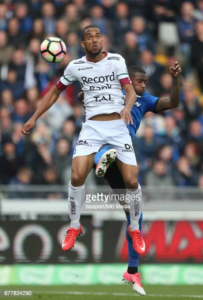 20170501 Bruges Belgium / Club Brugge v Zulte Waregem 'nMarvin BAUDRY Stefano DENSWIL'nJupiler Pro League PlayOff 1 Matchday 6 at the Jan Breydel...