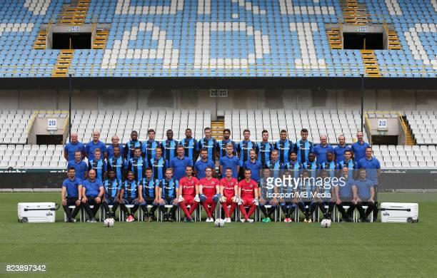 20170711 Bruges Belgium / Photoshoot Club Brugge 2017 2018 / 'n'nBack row Pascal PLOVIE Michel DIERINGS Herman BRUGHMANS Stefano DENSWIL Jordi...