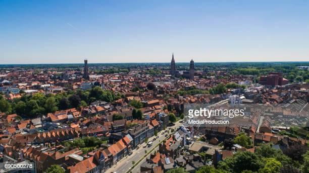 Bruges - Brugge in Belgium Aerial view