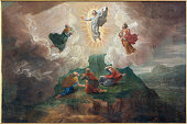 Bruges - The Transfiguration of the Lord by D. Nollet (1694) in st. Jacobs church (Jakobskerk).