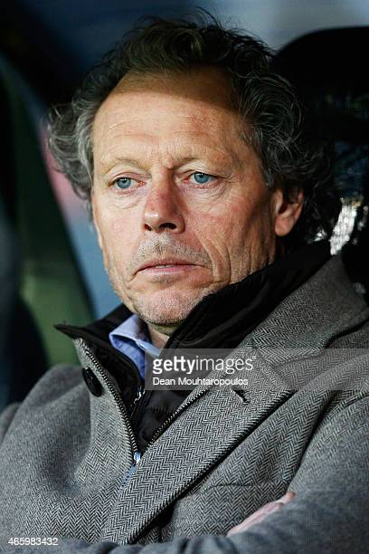 Brugge Head Coach / Manager Michel Preud'homme looks on prior to the UEFA Europa League Round of 16 1st leg match between Club Brugge KV and Besiktas...