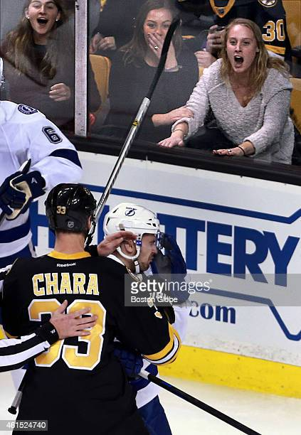 Bruins captain Zdeno Chara dropped Tampa Bay's Cedric Paquette with one punch during a third period skirmish eliciting a variety of reactions from...