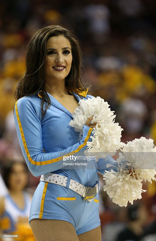 Bruins cheerleaders cheer at the game against the Minnesota Golden Gophers during the second round of the 2013 NCAA Men's Basketball Tournament at The Frank Erwin Center on March 22, 2013 in Austin, Texas.