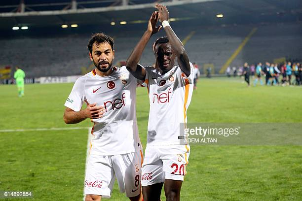 Bruma of Galatasaray celebrates at the end of the Turkish Super Lig football match between Genclerbirligi and Galatasaray on October 15 2016 at the...