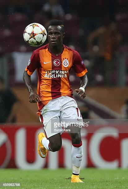 Bruma of Galatasaray controls the ball during the UEFA Champions League group D match between Galatasaray AS and RSC Anderlecht on September 16 at TT...