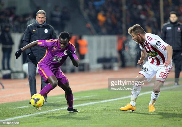 Bruma of Galatasaray in action during the Turkish Spor Toto Super League football match between Sivasspor and Galatasaray at 9 Eylul Stadium in Sivas...