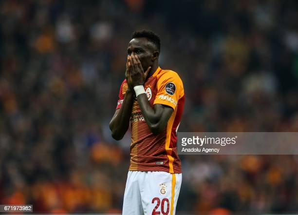 Bruma of Galatasaray reacts during the Turkish Spor Toto Super Lig football match between Galatasaray and Fenerbahce at Turk Telekom Arena in...