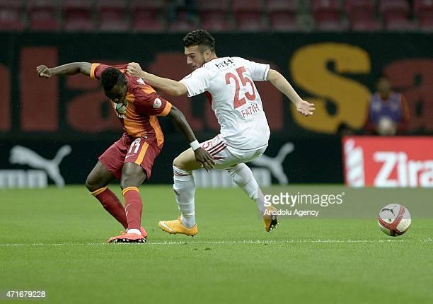 Bruma of Galatasatay in action against Fatih Ciplak of Sivasspor during the Ziraat Turkish Cup semifinal 1st match between Galatasaray and Sivasspor...