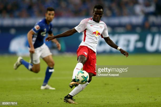 Bruma of Leipzig runs with the ball during the Bundesliga match between FC Schalke 04 and RB Leipzig at VeltinsArena on August 19 2017 in...