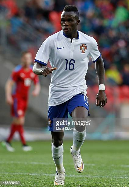 Bruma of Portugal in action during the international friendly match between U21 Czech Republic and U21 Portugal at Eden Stadium on March 31 2015 in...
