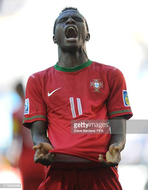 Bruma of Portugal reacts after hitting the crossbar during the FIFA U20 World Cup Group B match between Portugal and Cuba at Kadir Has Stadium on...