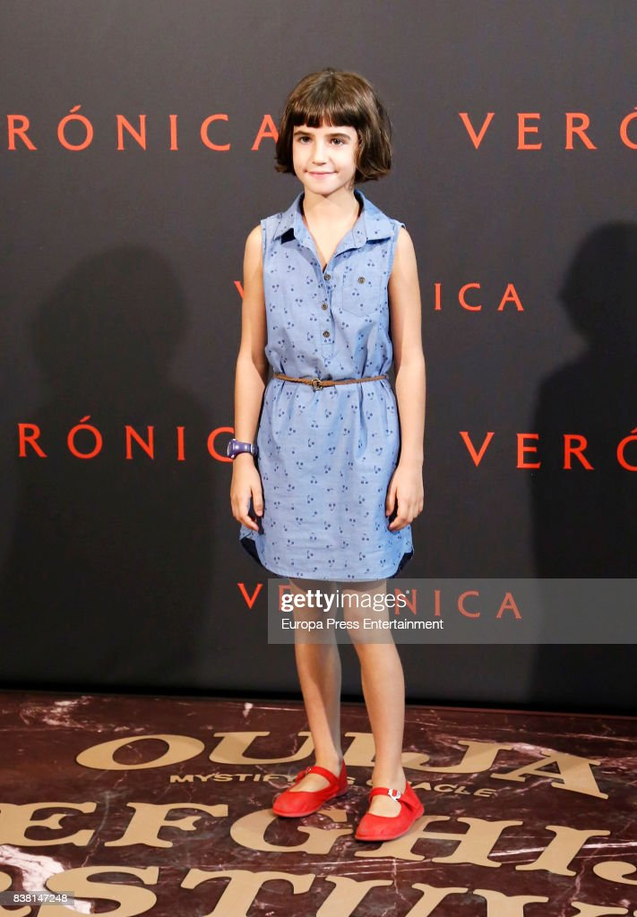 Bruna Gonzalez attends a photocall for the film 'Veronica' at the Sony offices on August 23, 2017 in Madrid, Spain.