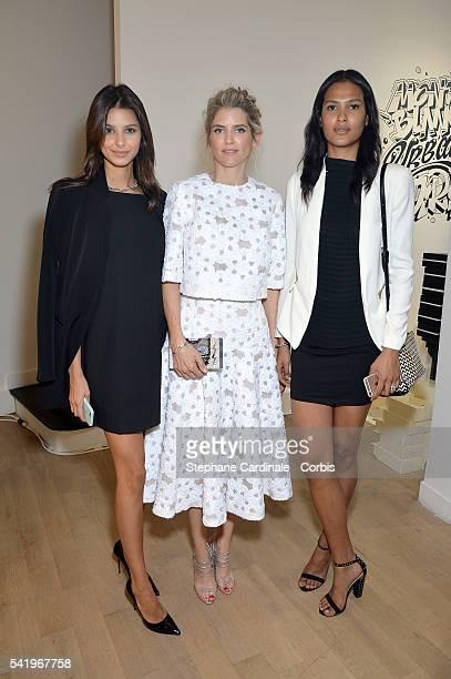 Bruna Lirio Alice Taglioni and Thayna Silva Santos attend the Montblanc Urban Spirit Launch on June 21 2016 in Paris France