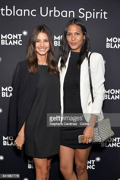 Bruna Lirio and Thayna Silva Santos attend the Montblanc Urban Spirit Launch on June 21 2016 in Paris France