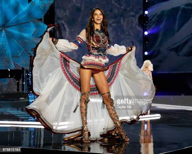 Bruna Lirio walks the runway during the 2017 Victoria's Secret Fashion Show at MercedesBenz Arena on November 20 2017 in Shanghai China