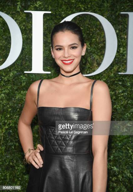 Bruna Marquezine attends 'Christian Dior couturier du reve' Exhibition Launch celebrating 70 years of creation at Musee Des Arts Decoratifs on July 3...