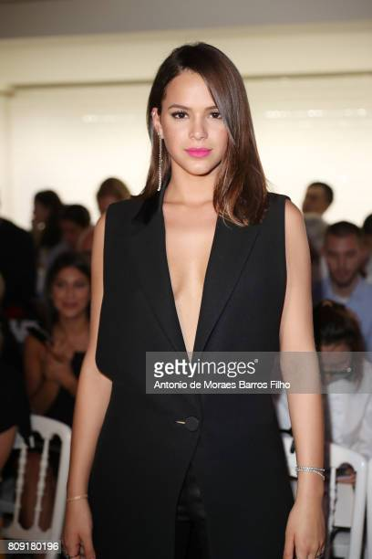 Bruna Marquezine attends the Jean Paul Gaultier Haute Couture Fall/Winter 20172018 show as part of Haute Couture Paris Fashion Week on July 5 2017 in...