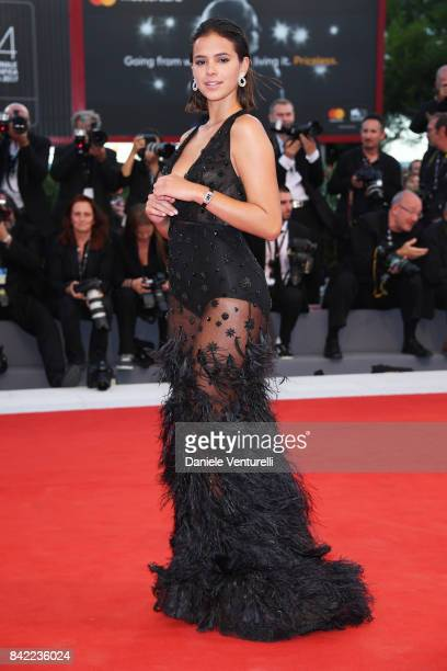 Bruna Marquezine wearing a JaegerLeCoultre watch walks the red carpet ahead of the 'The Leisure Seeker ' screening during the 74th Venice Film...