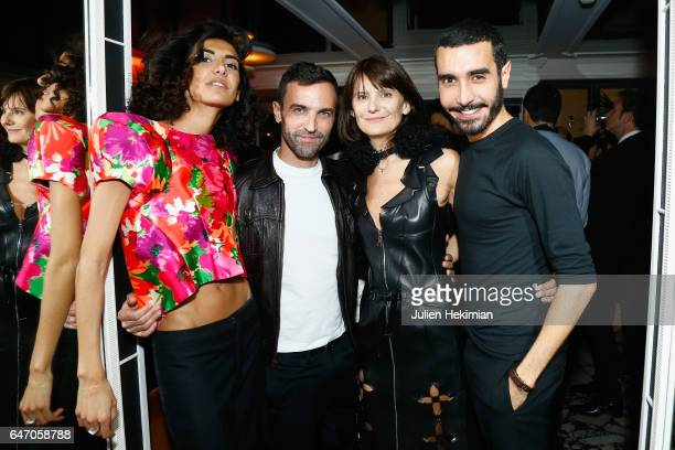 Brune Buonoman Nicolas Ghesquiere MarieAmelie Sauve and Florent Buonomano attend the Mastermind Magazine launch dinner as part of Paris Fashion Week...