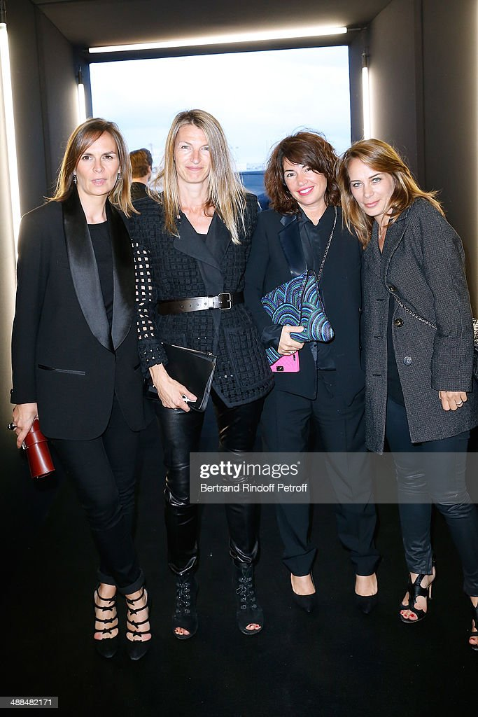 Brune de Margerie (L) and Guest attend the Cocktail for the discovery of new fragrance 'Black Opium' by Yves Saint Laurent on May 6, 2014 in Paris, France..