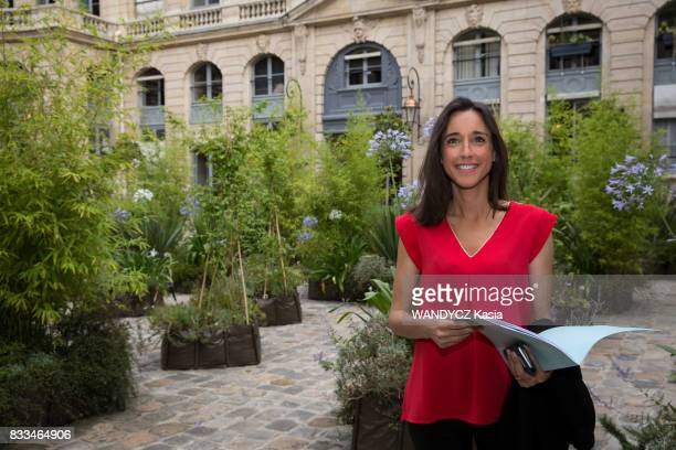 Brune Poirson Secretary of state to the Minister of Ecological and Solidarity Transition on july 21 in Paris France