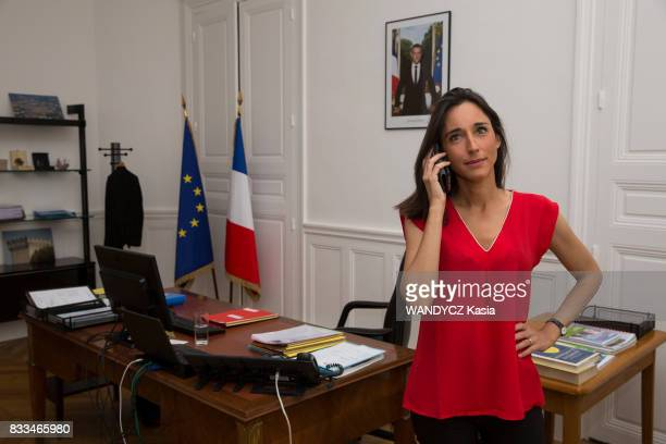 Brune Poirson Secretary of states to the Minister of Ecological and Solidarity Transition on july 21 in Paris France
