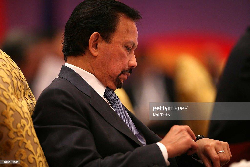 Brunei's Sultan Hassanal Bolkiah at the plenary session of ASEAN-India Commemorative Summit in New Delhi on Thursday, December 20, 2012.