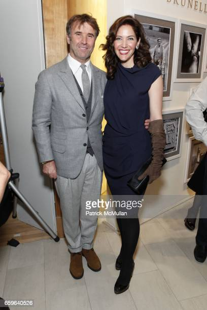 Brunello Cucinelli and Melba Ruffo Di Calabria attend BRUNELLO CUCINELLI And SAKS FIFTH AVENUE Event In Support of HENRY STREET SETTLEMENT at SAKS...