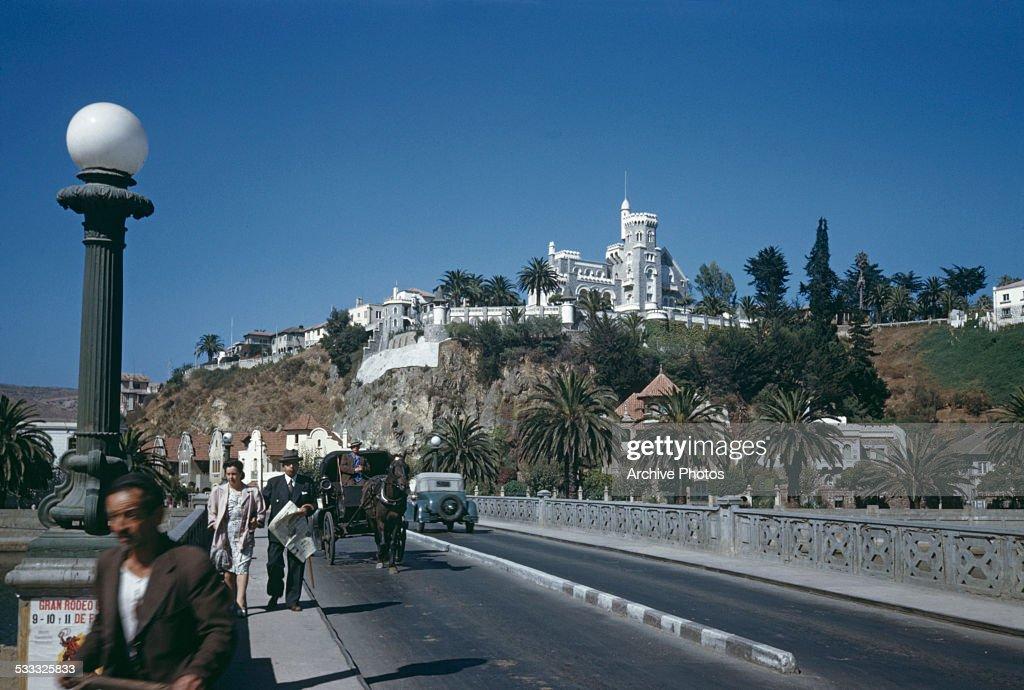 Brunet Castle in Vina del Mar Chile South America circa 1965