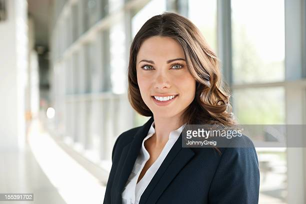 Brunette Businesswoman Smiling