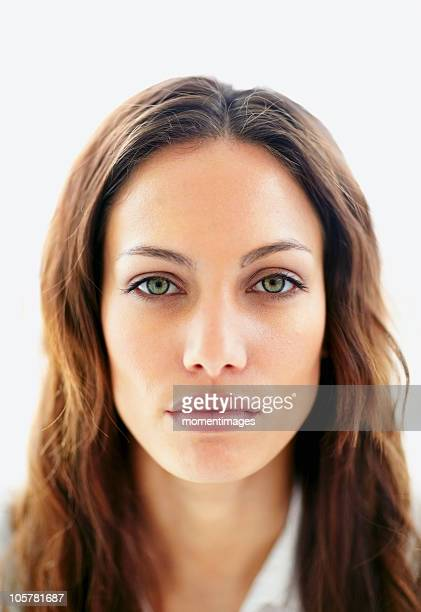 Brunette with a blank expression