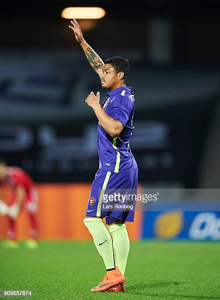 Bruninho of FC Midtjylland in action during the Danish Alka Superliga match between AGF Aarhus and FC Midtjylland at Ceres Park on September 21 2016...