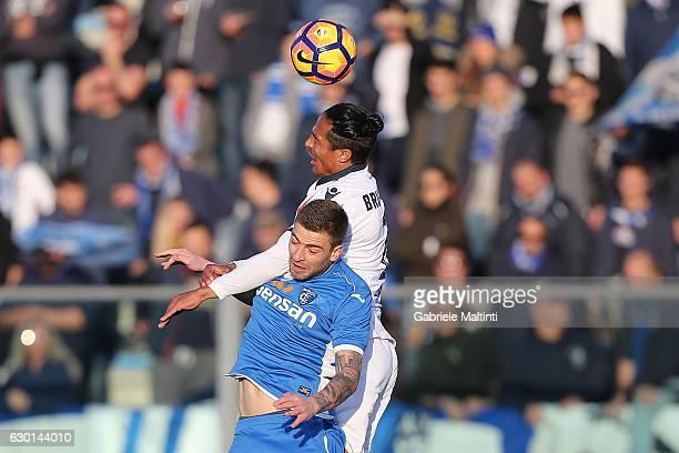 Bruno Alvers of Cagliari Calcio in action during the Serie A match between Empoli FC and Cagliari Calcio at Stadio Carlo Castellani on December 17...