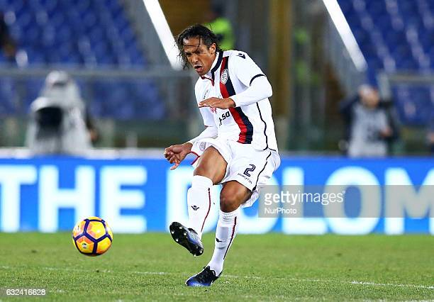 Bruno Alves of Cagliari Calcio in action during the Serie A match between AS Roma and Cagliari Calcio at Stadio Olimpico on January 22 2017 in Rome...
