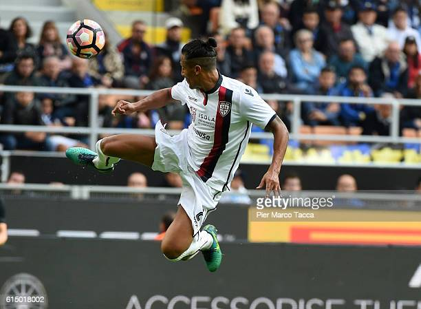 Bruno Aòlves of Cagliari Calcio in action during the Serie A match between FC Internazionale and Cagliari Calcio at Stadio Giuseppe Meazza on October...