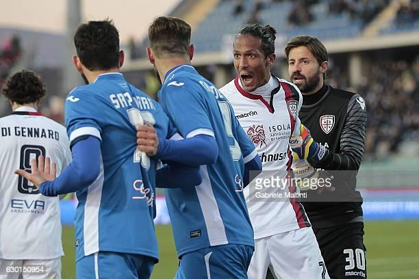 Bruno Alves of Cagliari Calcio reacts during the Serie A match between Empoli FC and Cagliari Calcio at Stadio Carlo Castellani on December 17 2016...