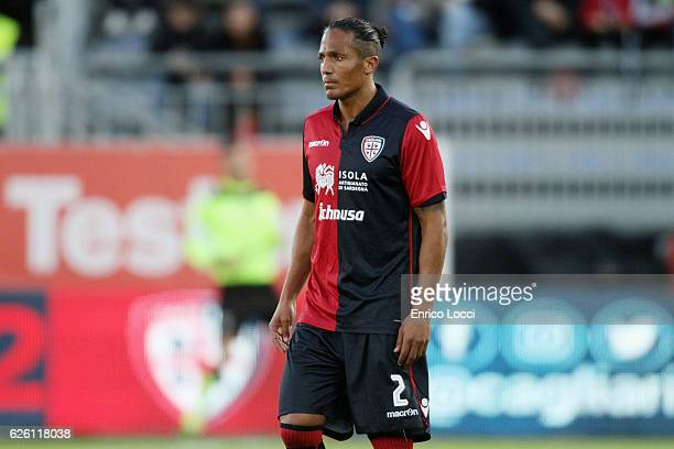 Bruno Alves of Cagliari looks on during the Serie A match between Cagliari Calcio and Udinese Calcio at Stadio Sant'Elia on November 27 2016 in...