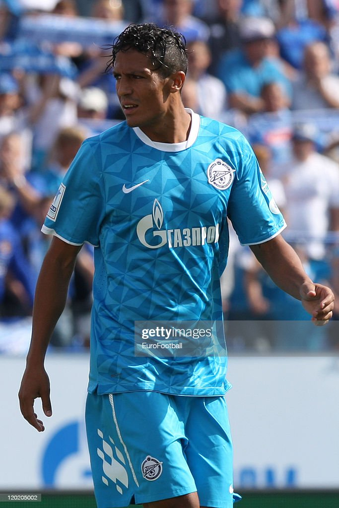 <a gi-track='captionPersonalityLinkClicked' href=/galleries/search?phrase=Bruno+Alves&family=editorial&specificpeople=2149132 ng-click='$event.stopPropagation()'>Bruno Alves</a> of FC Zenit St. Petersburg reacts during the Russian Football League Championship match between FC Zenit St. Petersburg and FC Spartak Nalchik at the Petrovsky Stadium on July 31, 2011 in St. Petersburg, Russia.