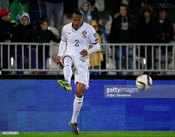 Bruno Alves of Portugal in action during the Euro 2016 qualifying football match between Serbia and Portugal at the Stadium FC Partizan in Belgrade...