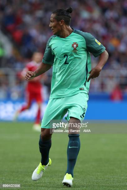 Bruno Alves of Portugal in action during the FIFA Confederations Cup Russia 2017 Group A match between Russia and Portugal at Spartak Stadium on June...