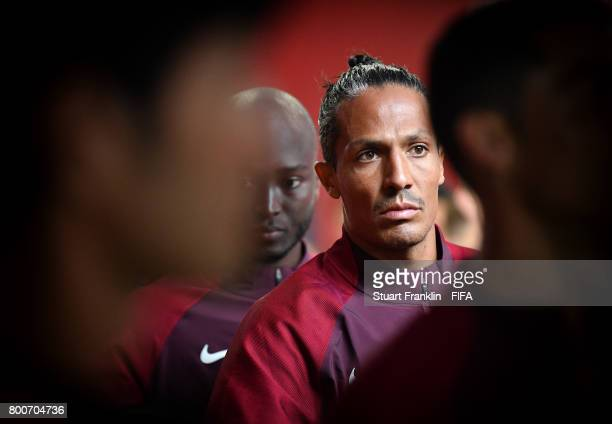 Bruno Alves of Portugal lines up in the player tunnel before the FIFA Confederation Cup Group A match between New Zealand and Portugal at Saint...