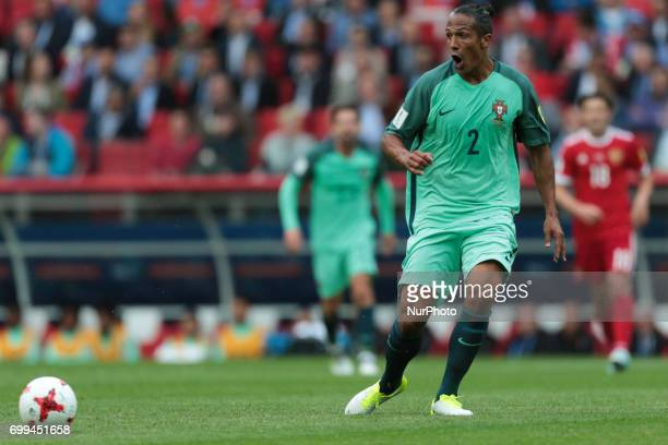 Bruno Alves of the Portugal national football team reacts during the 2017 FIFA Confederations Cup match first stage Group A between Russia and...