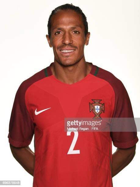 Bruno Alves poses for a picture during the Portugal team portrait session on June 15 2017 in Kazan Russia