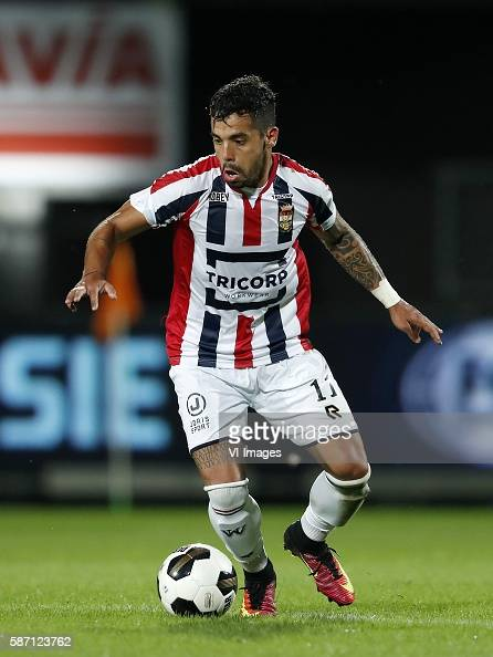Bruno Andrade of Willem II during the Dutch Eredivisie match between Willem II and Vitesse on august 6 2016 at the Koning Willem II stadium in...