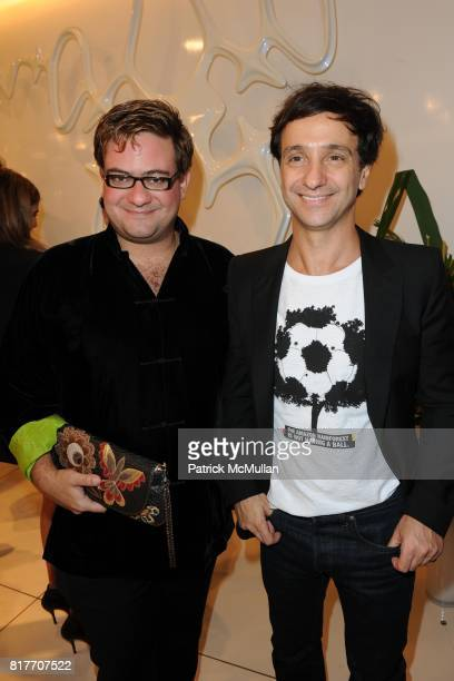 Bruno Astuto and Carlos Miele attend Carlos Miele and Vogue Italia Celebrate Limited Edition of TShirts Designed by Lapo Elkann and Bianca Brandolini...