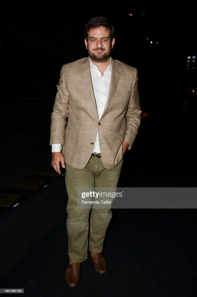 Bruno Astuto attends the Agua de Coco show during Sao Paulo Fashion Week Summer 2013/2014 on March 20, 2013 in Sao Paulo, Brazil.