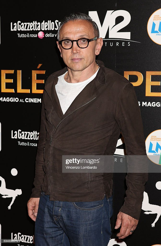 Bruno Barbieri attends the 'Pele' Red Carpet on May 26, 2016 in Milan, Italy.