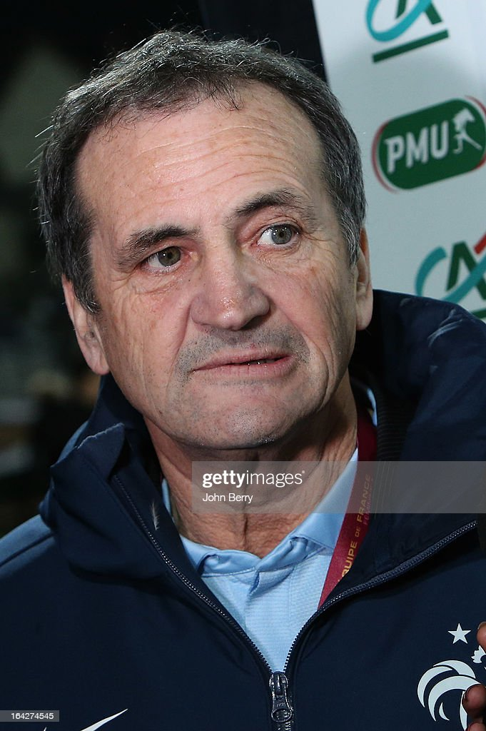 <a gi-track='captionPersonalityLinkClicked' href=/galleries/search?phrase=Bruno+Bini&family=editorial&specificpeople=2391630 ng-click='$event.stopPropagation()'>Bruno Bini</a>, coach of France poses prior to the women international friendly match between France and Brazil at the Robert Diochon stadium on March 9, 2013 in Rouen, France.