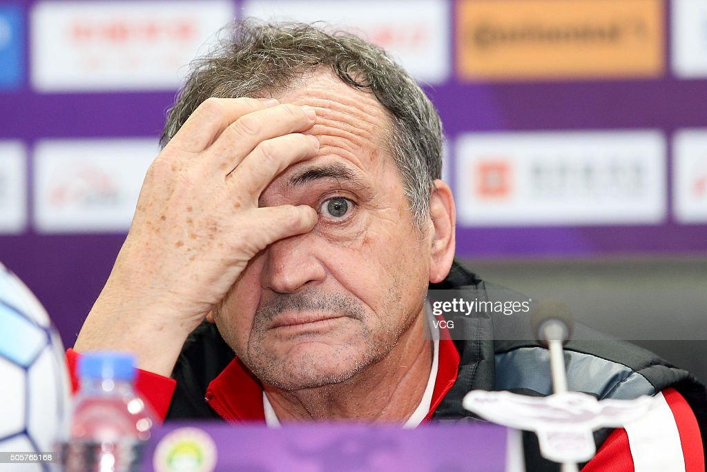 <a gi-track='captionPersonalityLinkClicked' href=/galleries/search?phrase=Bruno+Bini&family=editorial&specificpeople=2391630 ng-click='$event.stopPropagation()'>Bruno Bini</a>, head coach of Chinese women's national football team, attends the press conference of Irena Cup - CFA International Women's Football Tournament Shenzhen 2016 on January 20, 2016 in Shenzhen, Guangdong Province of China.