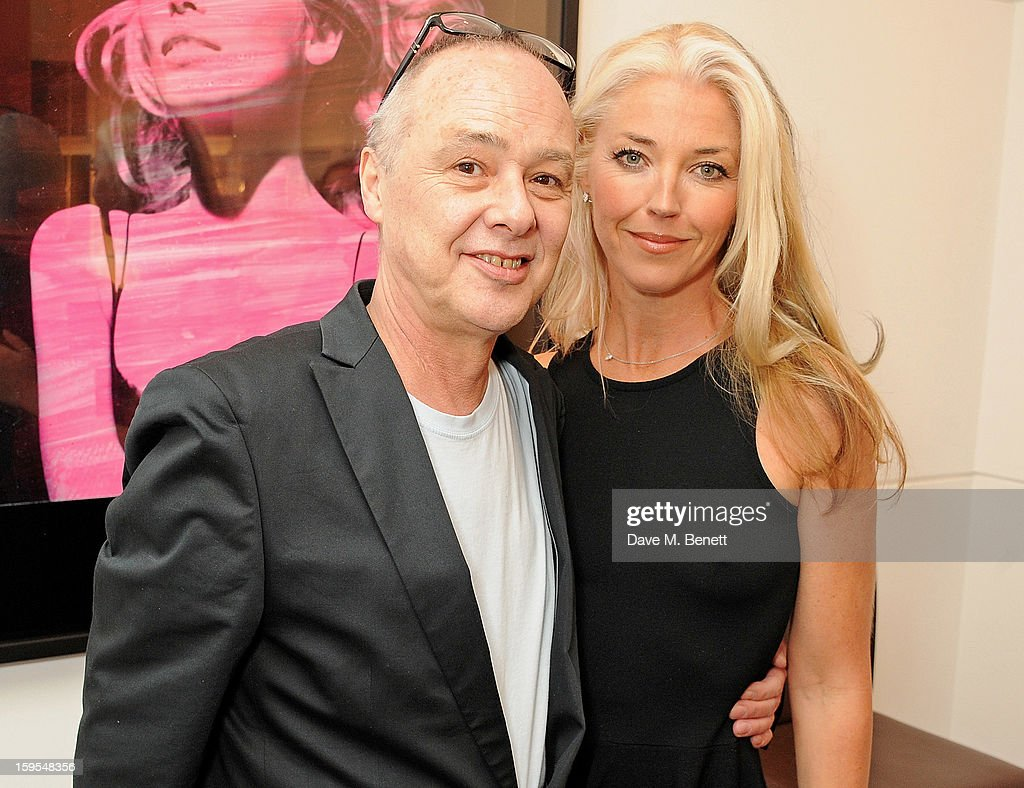 Bruno Bisang (L) and <a gi-track='captionPersonalityLinkClicked' href=/galleries/search?phrase=Tamara+Beckwith&family=editorial&specificpeople=201578 ng-click='$event.stopPropagation()'>Tamara Beckwith</a> attend a private view of 'Bruno Bisang: 30 Years Of Polaroids' at The Little Black Gallery on January 15, 2013 in London, England.